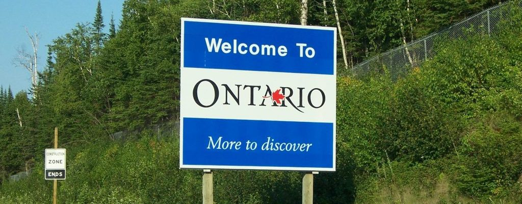 Ontario Welcome Sign